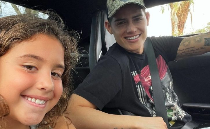 James Rodríguez está feliz porque su hija Salomé incursionó en el cine