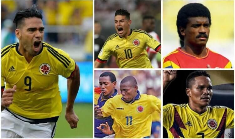 Los 10 goleadores históricos de la Selección Colombia