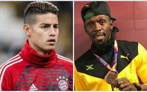 ¿James Rodríguez es más rápido que Usain Bolt?