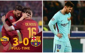 Roma hace historia y elimina al Barcelona en la Champions