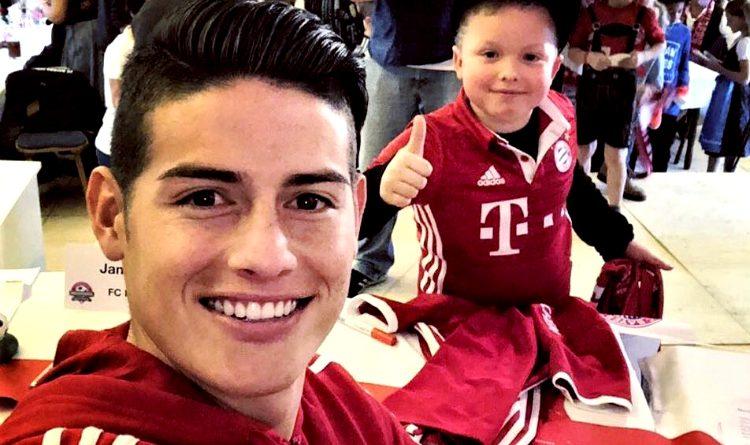 James compartió con las divisiones menores del Bayern 1