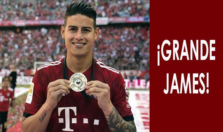 James fue elegido en el equipo ideal de la Champions League