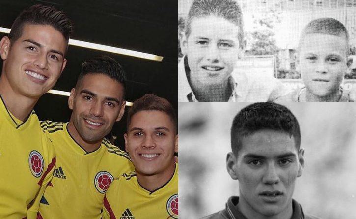 James, Falcao y Quintero, el tridente de Colombia que desde niños nunca dejaron de soñar