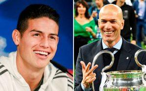 James Rodríguez habló sobre la salida de Zidane del Real Madrid