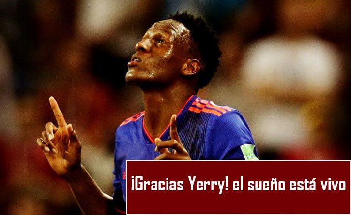 Yerry Mina puso el primer gol para Colombia frente a Polonia. ¡De Guachené para el Mundo! 1