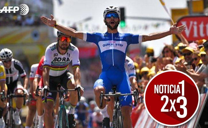 El colombiano Fernando Gaviria ganó la primera etapa del Tour de Francia