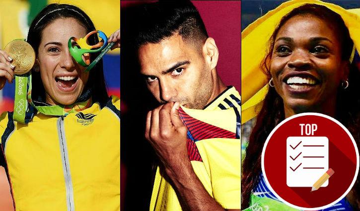8 deportistas que han llevado la bandera e himno de Colombia a niveles mundiales