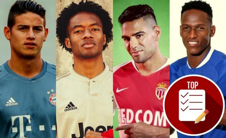 Las 10 transferencias más caras de futbolistas colombianos en Europa
