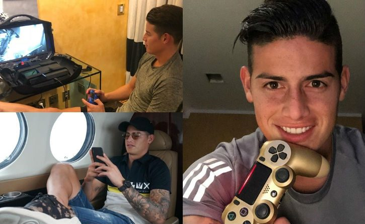 El fútbol no es la única pasión de James, descubre cuáles son sus videojuegos favoritos