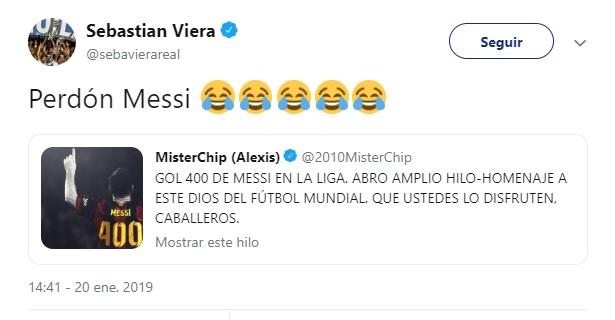 Las disculpas de Viera para Messi