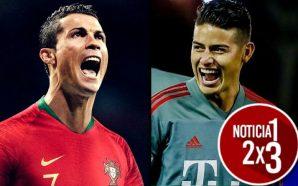 Cada vez es más lejana la opción de que Cristiano Ronaldo vuelva a jugar con James Rodríguez