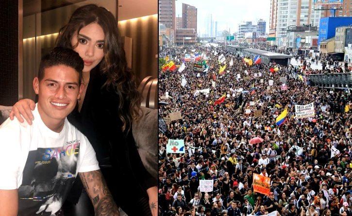 Hermana de James Rodríguez lo defiende por su silencio ante el Paro Nacional