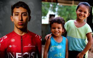 Egan Bernal, participa en campaña contra la desnutrición crónica de…