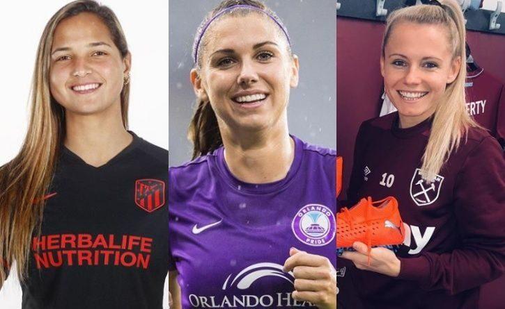 Las 7 futbolistas que sobresalen por su belleza en el mundo