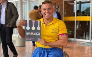 Medallista paralímpico dona mercados a atletas de bajos recursos en…