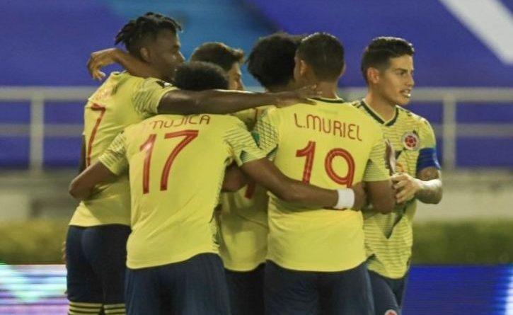 Juego de Colombia contra Chile en la eliminatoria al Mundial de Catar 2022