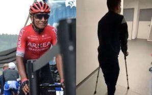 Nairo Quintana da sus primeros pasos luego de la cirugía…