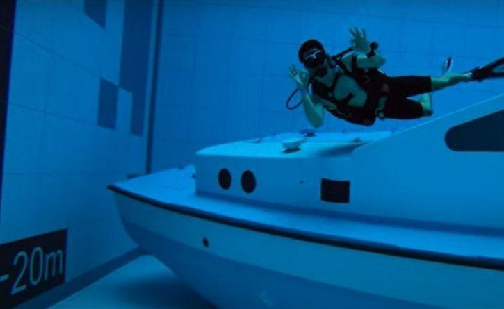 Así se ve la piscina más honda del mundo ¡Una gran profundidad!