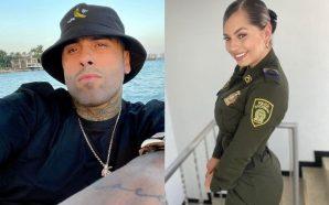Nicky Jam le coquetea de frente a una policía colombiana